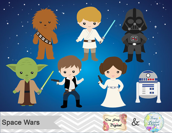 Star Wars clipart background WHAT YOU Digital Star Wars