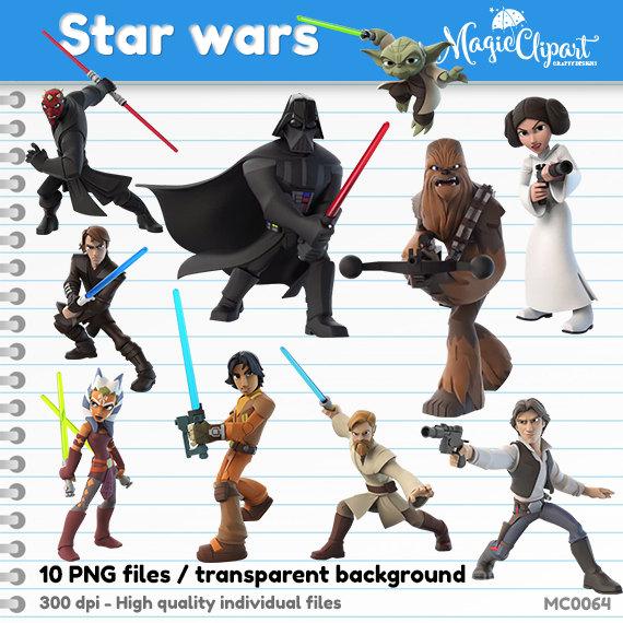 Star Wars clipart background PNG background instant download transparent