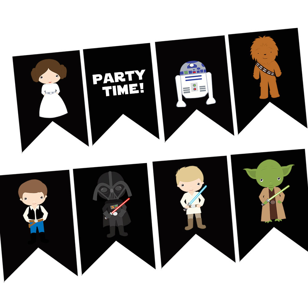 Star Wars clipart birthday party #3