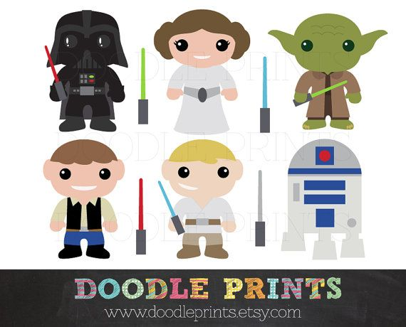 Luke Skywalker clipart princess leia Clipart Digital Clipart Clipart Illustrations