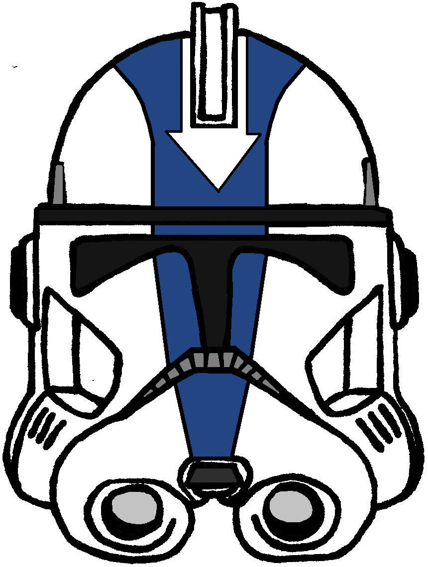 Drawn star wars helmet Trooper 212th Clone Helmet Clone