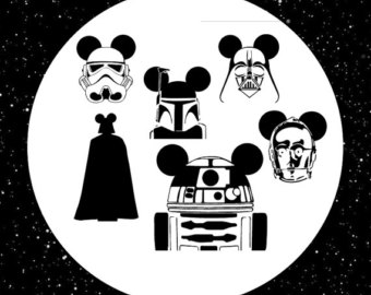 Star Wars clipart cricut Eps Files in Dxf for