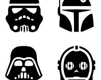 Star Wars clipart cricut Silhouettes download characters star star