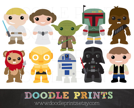 Star Wars clipart doodles Price welcome these Prints! Hello
