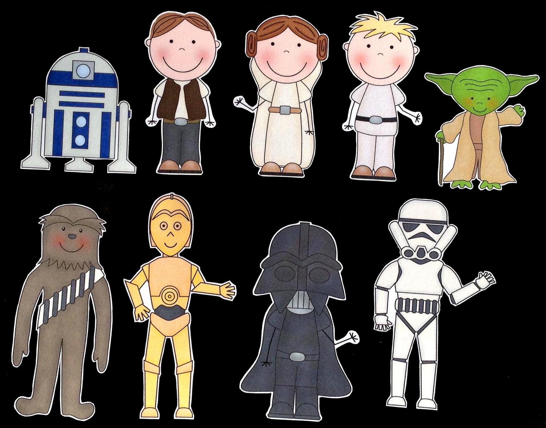 Star Wars clipart doodles (84+) star Cartoon Clipart characters