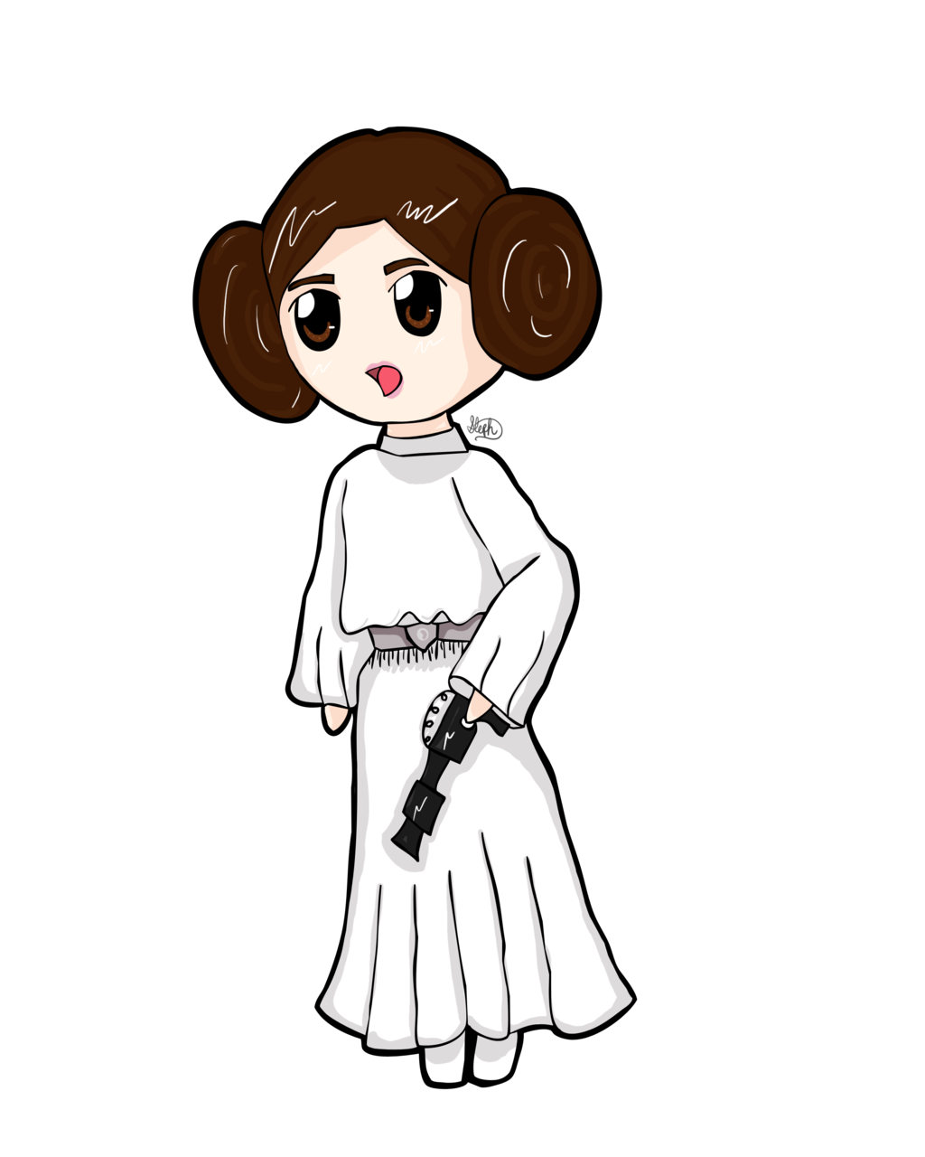 Star Wars clipart doodles Star DeviantArt by Princess Leia