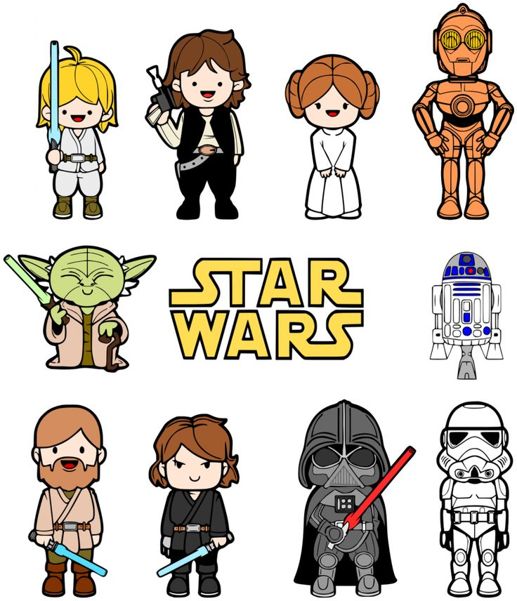 Star Wars clipart doodles Wars Pinterest Star ideas characters