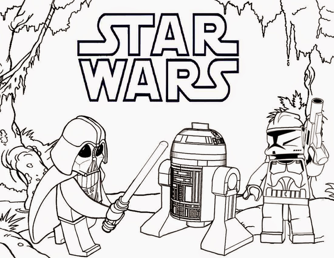 Drawn star wars 4th grade Lego pages coloring wars Printable
