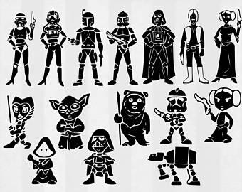 Star Wars clipart family Wars Bundle SVG clipart Wars