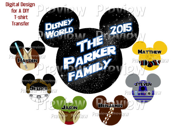 Star Wars clipart family Iron Heads Family  or