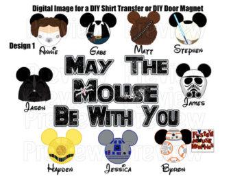 Star Wars clipart family DIY Heads Family Wars Mickey