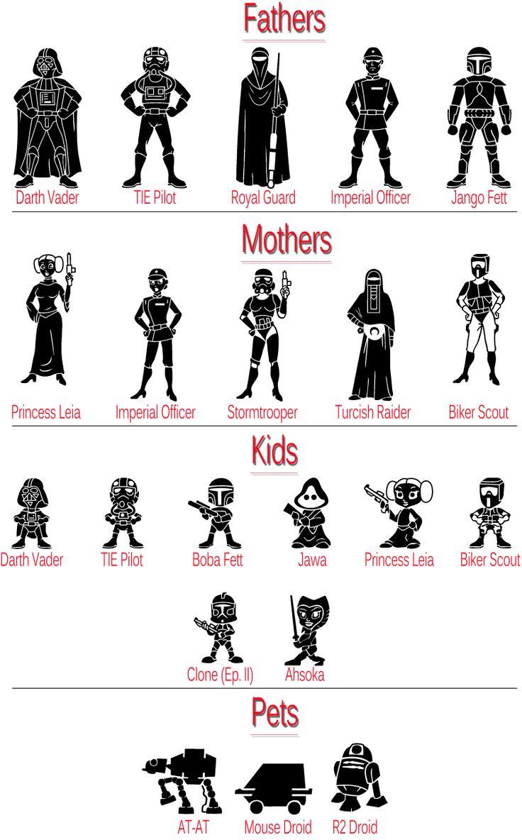 Star Wars clipart family FAMILY STAR CUSTOM Pinterest best