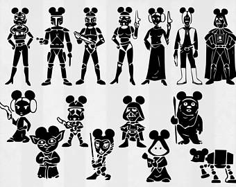 Star Wars clipart family Cut Star SVG Family files