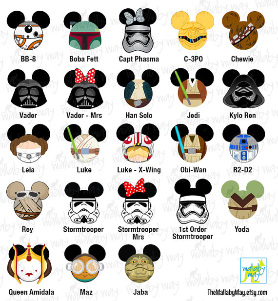 Star Wars clipart family On On Printable as Use