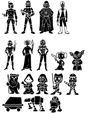 Star Wars clipart family Family Star SVG Wars free