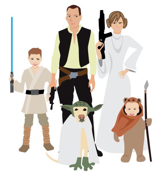 Star Wars clipart family Family Star Portrait Wars Secret