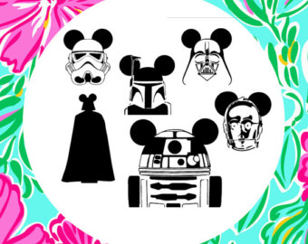 Star Wars clipart frame Dxf Eps Wars star Mickey