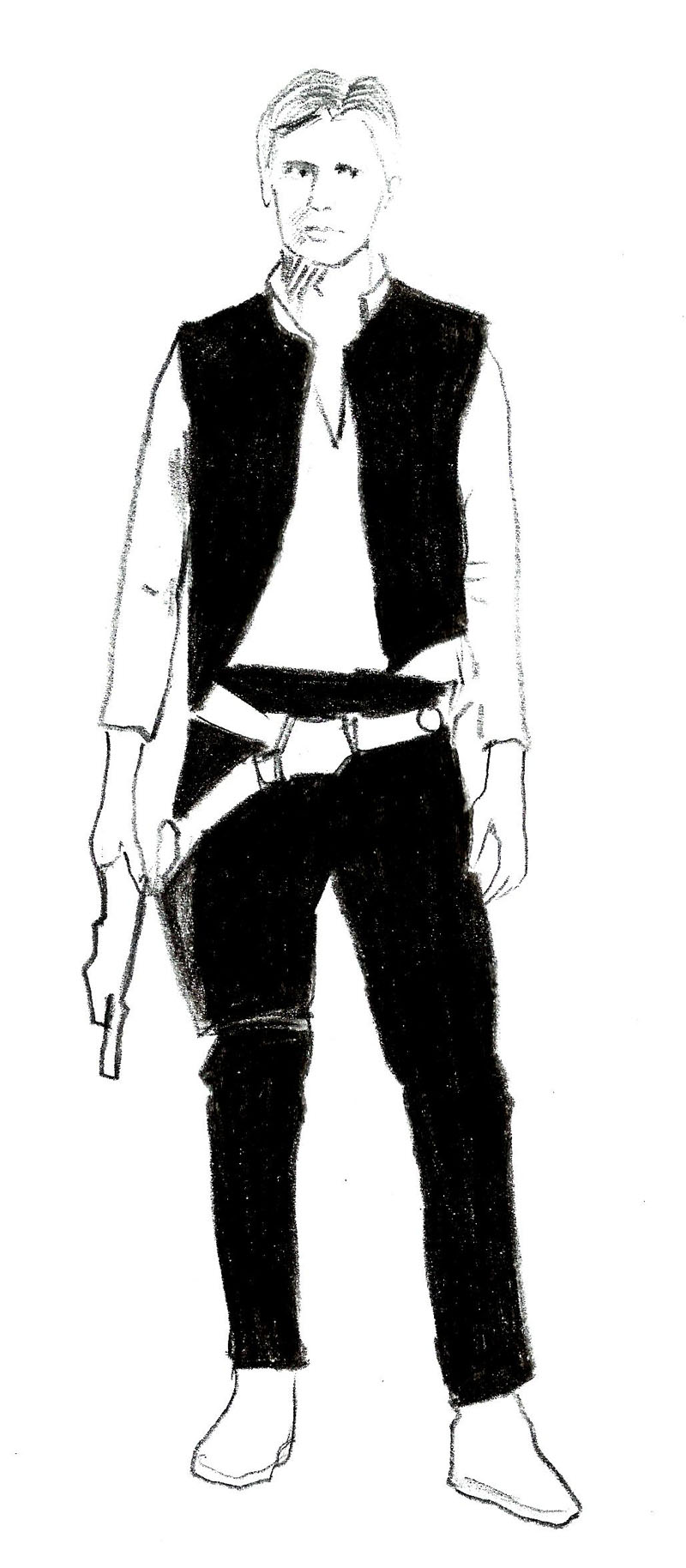 Star Wars clipart han solo 8 Han from Draw to