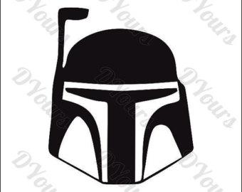 Star Wars clipart helmet Svg Instant Fett ai Etsy