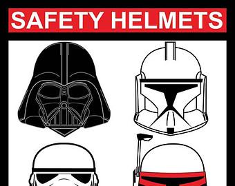 Star Wars clipart helmet Wars Boba Etsy Star Safety