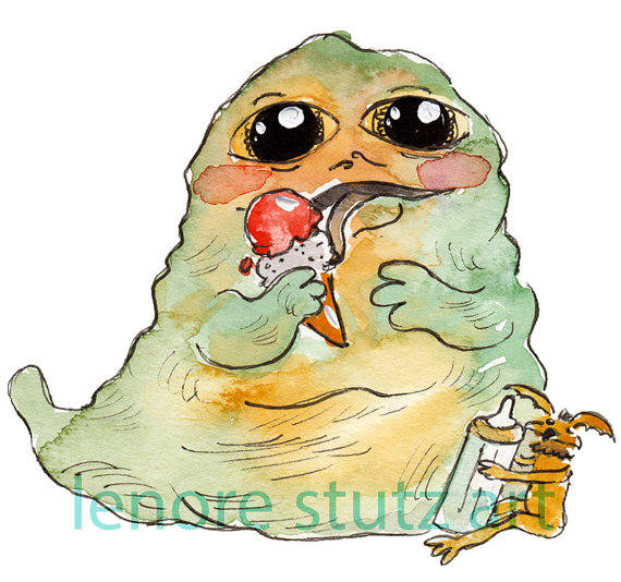 Star Wars clipart jabba the hut The Baby Nursery ArtBaby Hutt