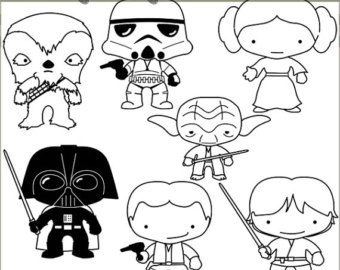 Star Wars clipart joda Limited clipart Set Heroes and