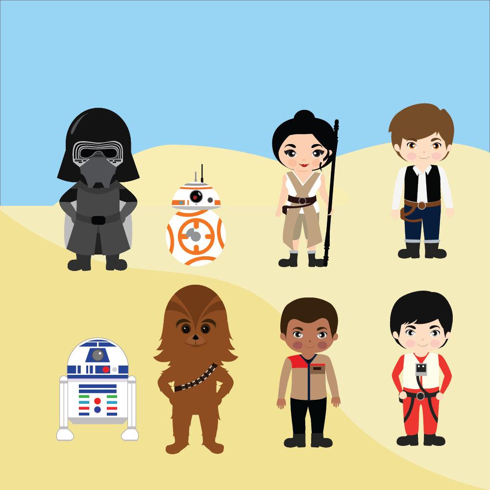 Luke Skywalker clipart c3po Wars kylo clipart ren clipart