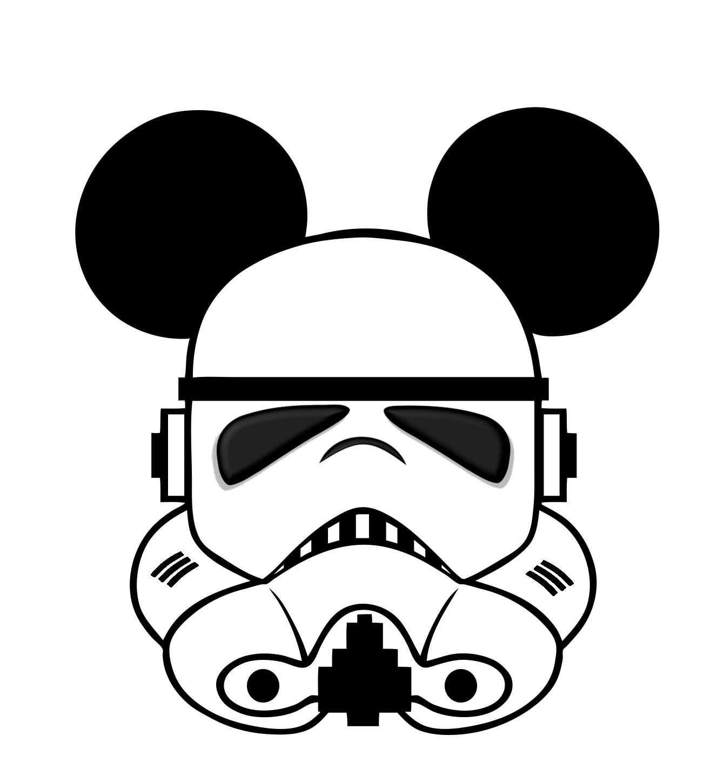 Star Mickey template head Mickey