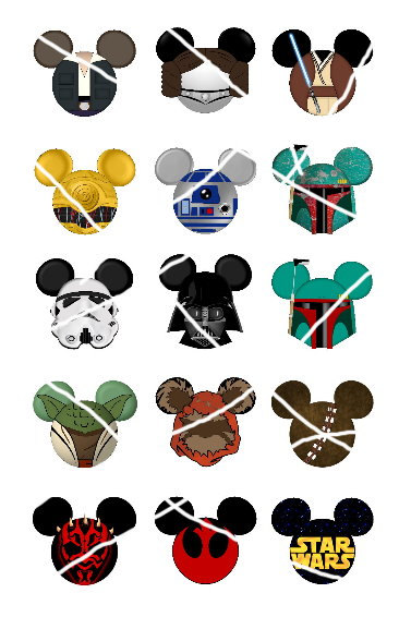 Star Wars clipart mickey head Various inspired Wars Wars head