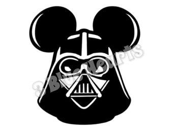 Star Wars clipart mickey head SVG pdf Etsy Star Vader