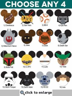 Star Wars clipart mickey head Characters Mickey Star INSTANT Cuts