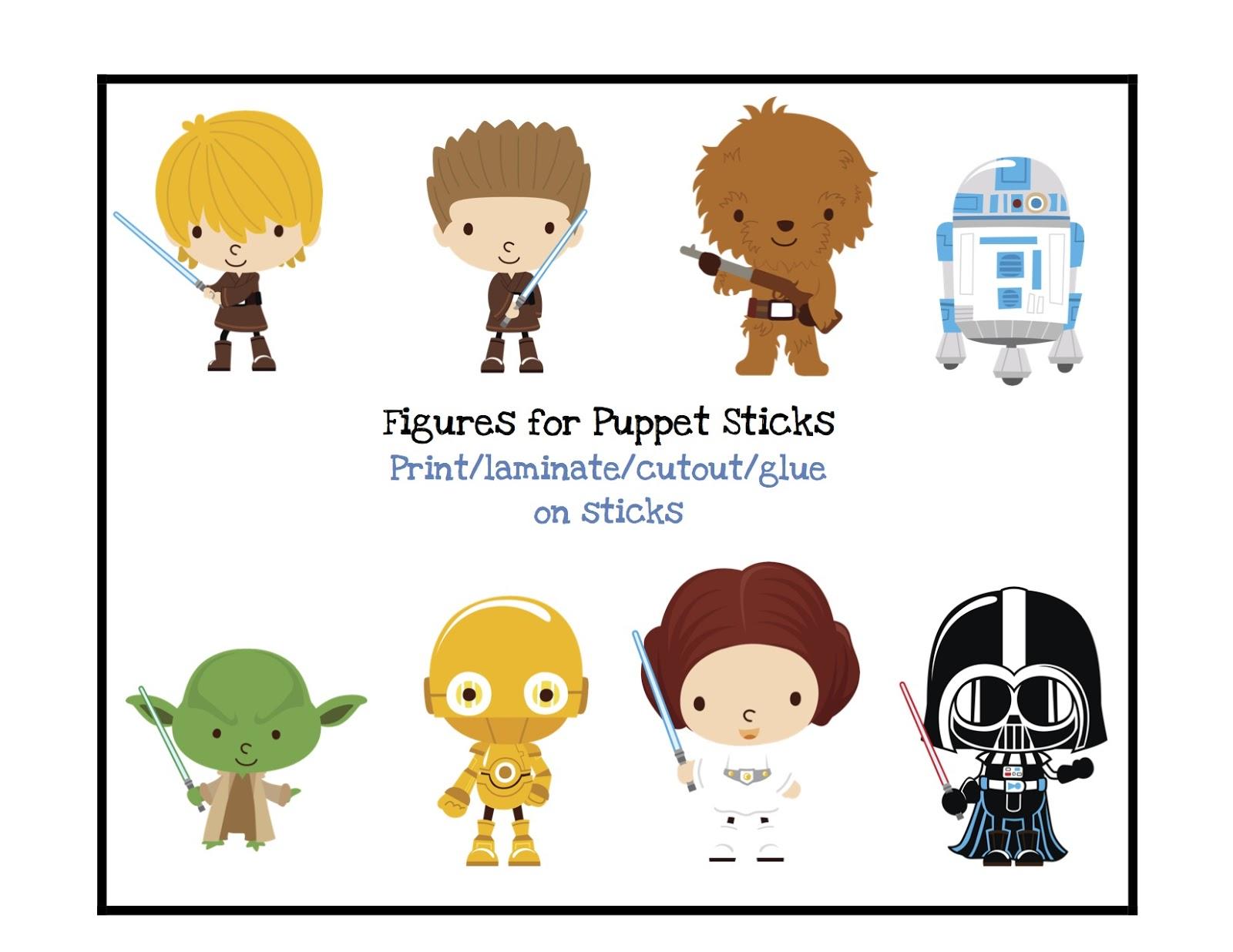 Star Wars clipart teacher Puppet Free Sticks Preschool Star
