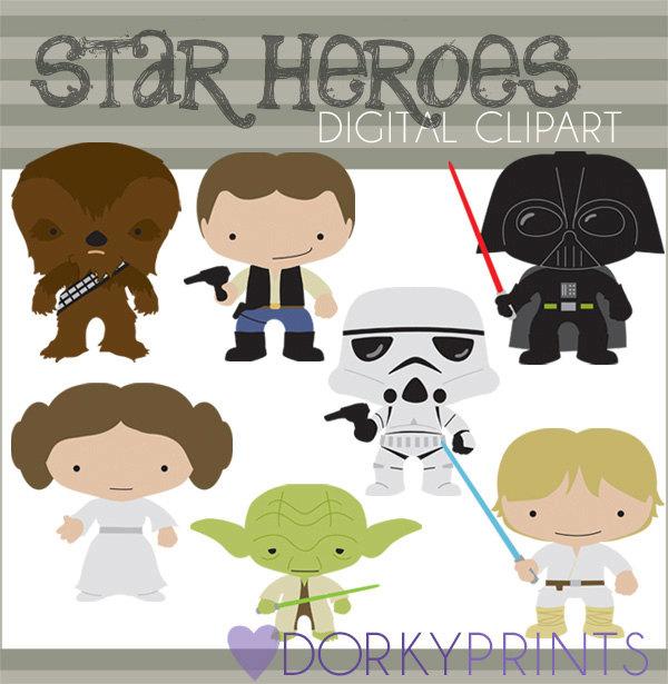 Star Wars clipart teacher Set DorkyPrints Star  Princess