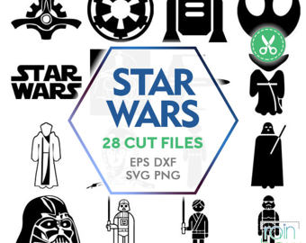 Star Wars clipart vector Clipart Silhouette Etsy Clipart Wars
