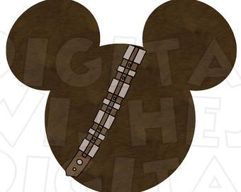 Star Wars clipart wookie Art head Digital Mouse Wars