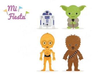 Star Wars clipart yoda R2D2 C3P0 Yoda Instant Chewbacca