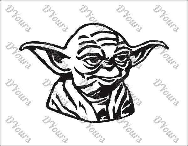 Star Wars clipart yoda Svg Model Yoda files Vector