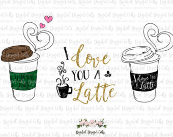 Cappuccino clipart coffee love Dxf designs png a eps