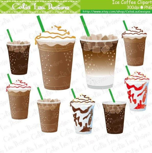 Cup clipart iced coffee Studio Coffee  INSTANT use