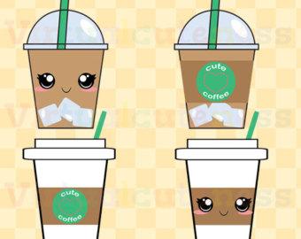Coffee clipart cute Alimentos cierre Virtualcuteness VENTA imágenes