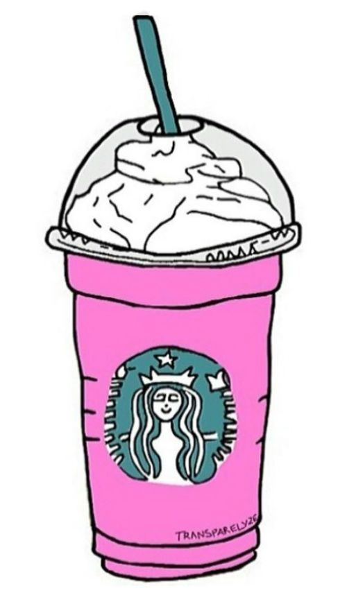 Pink clipart starbucks It on by shared Image