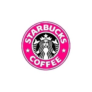 Pink clipart starbucks Polyvore starbucks on Pink image