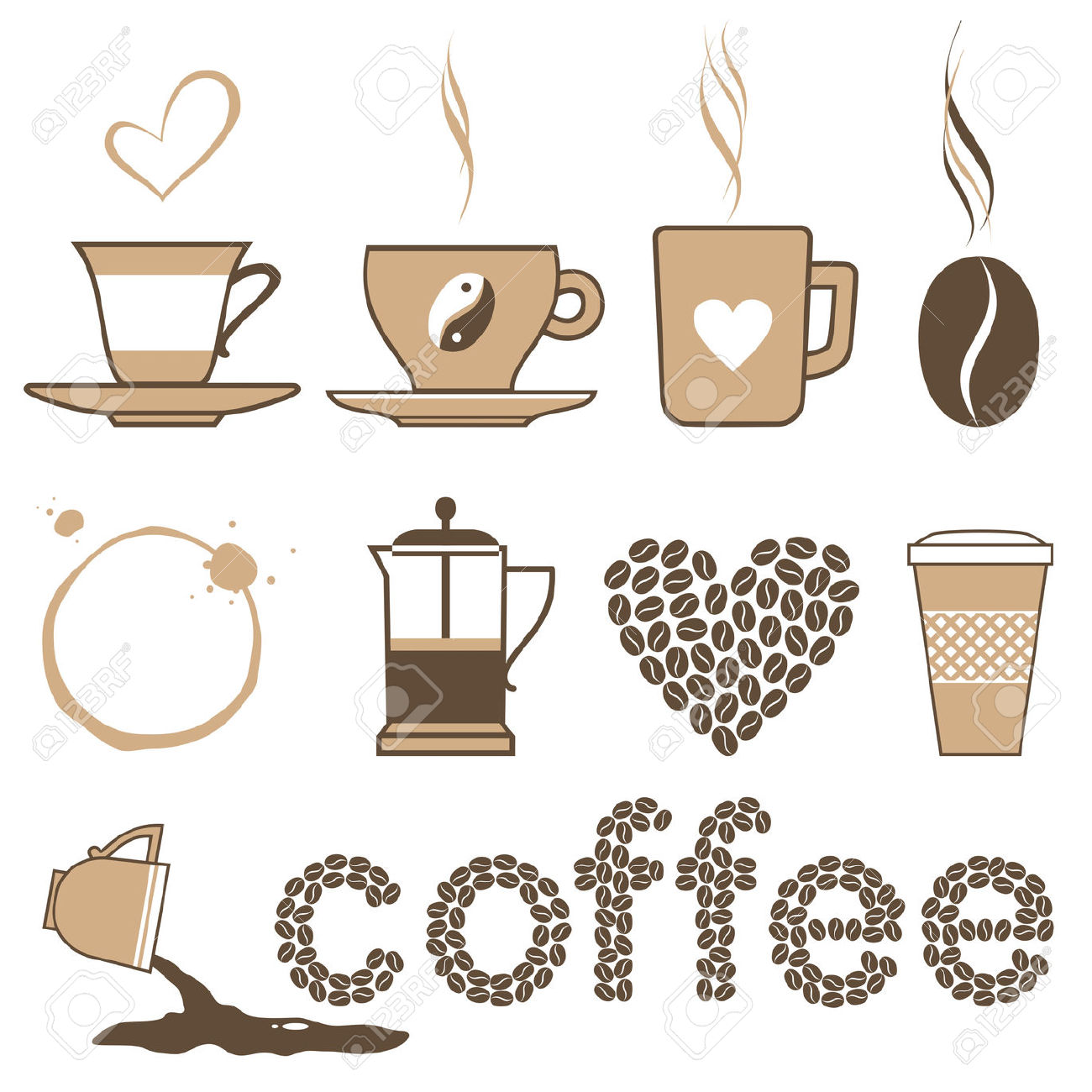Coffee clipart vintage coffee Clipart Cup  Cup of