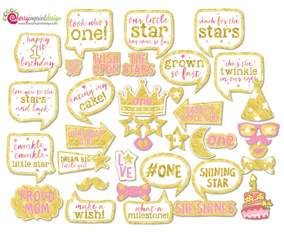 Celebrity clipart twinkle twinkle little star Booth Birthday Little First Photo