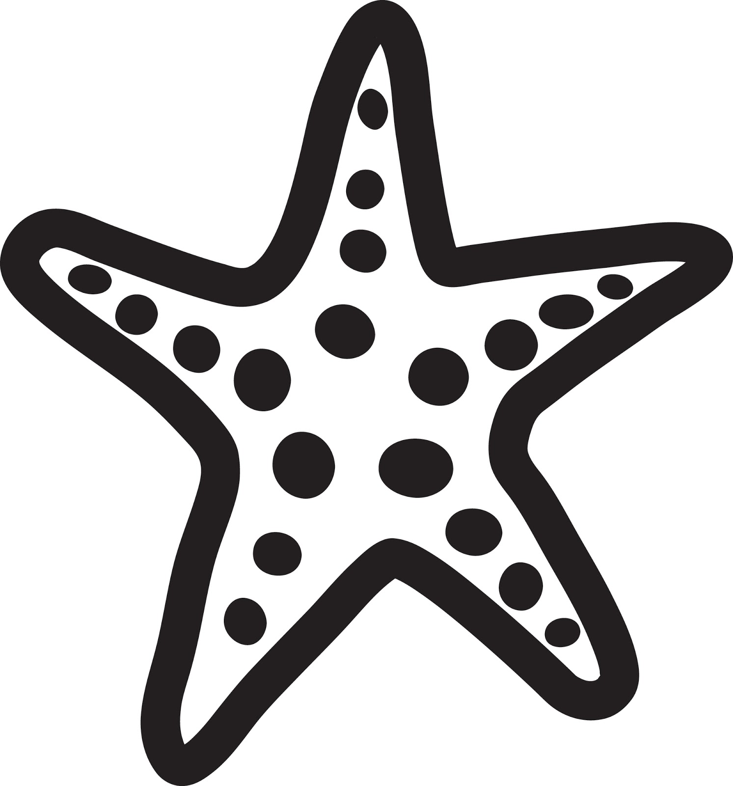 Simple clipart starfish Orange clipart To image com