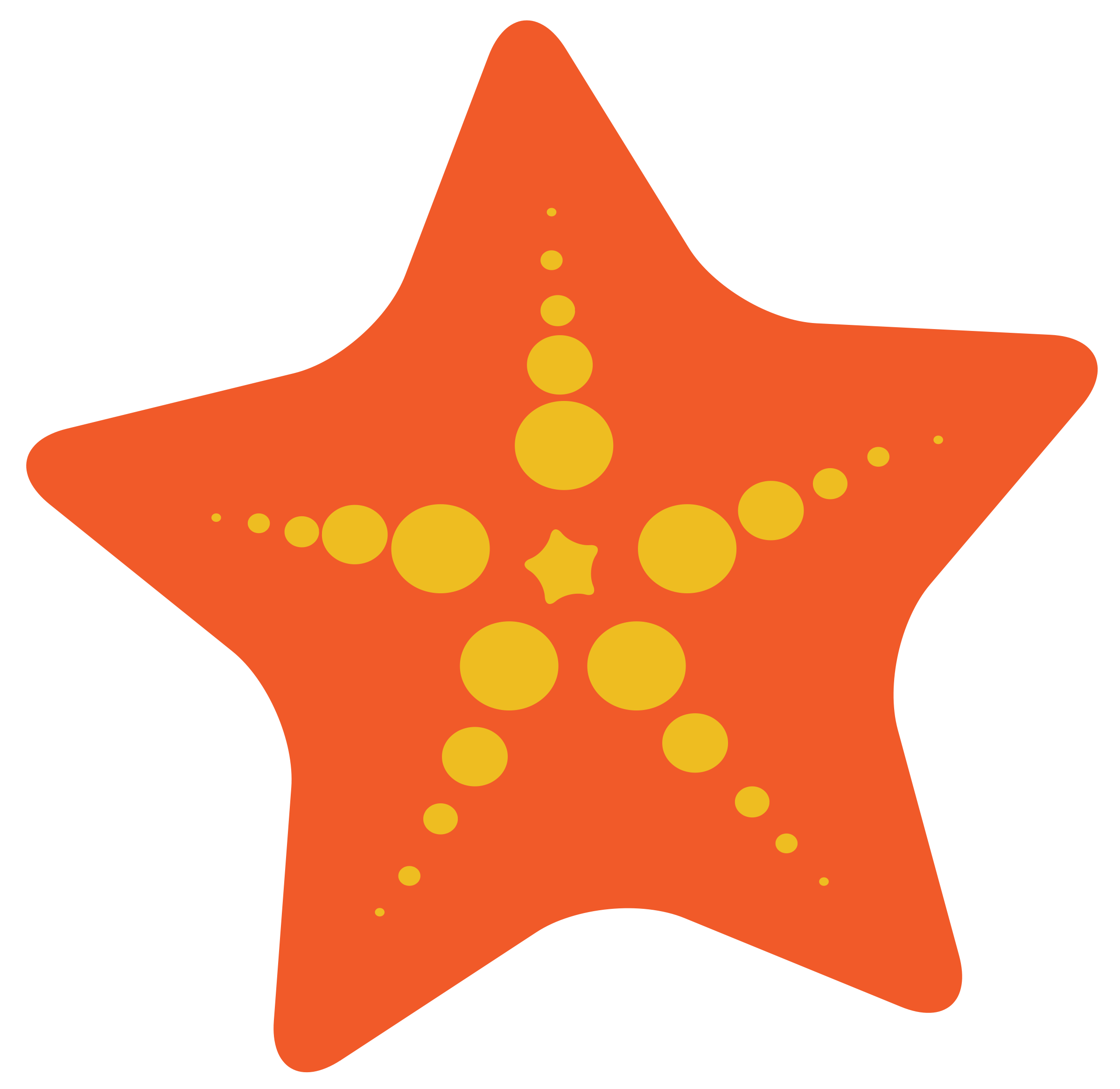 Scary clipart starfish #2