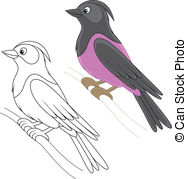 Starling clipart #7