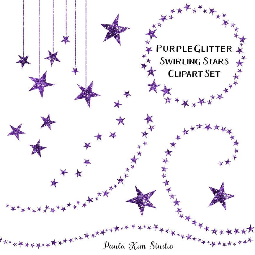 Stars clipart lavender Glitter 80% Art Swirling Clip
