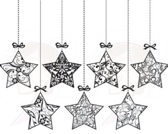 Merry Christmas clipart star Ornament And Christmas Black Ornament