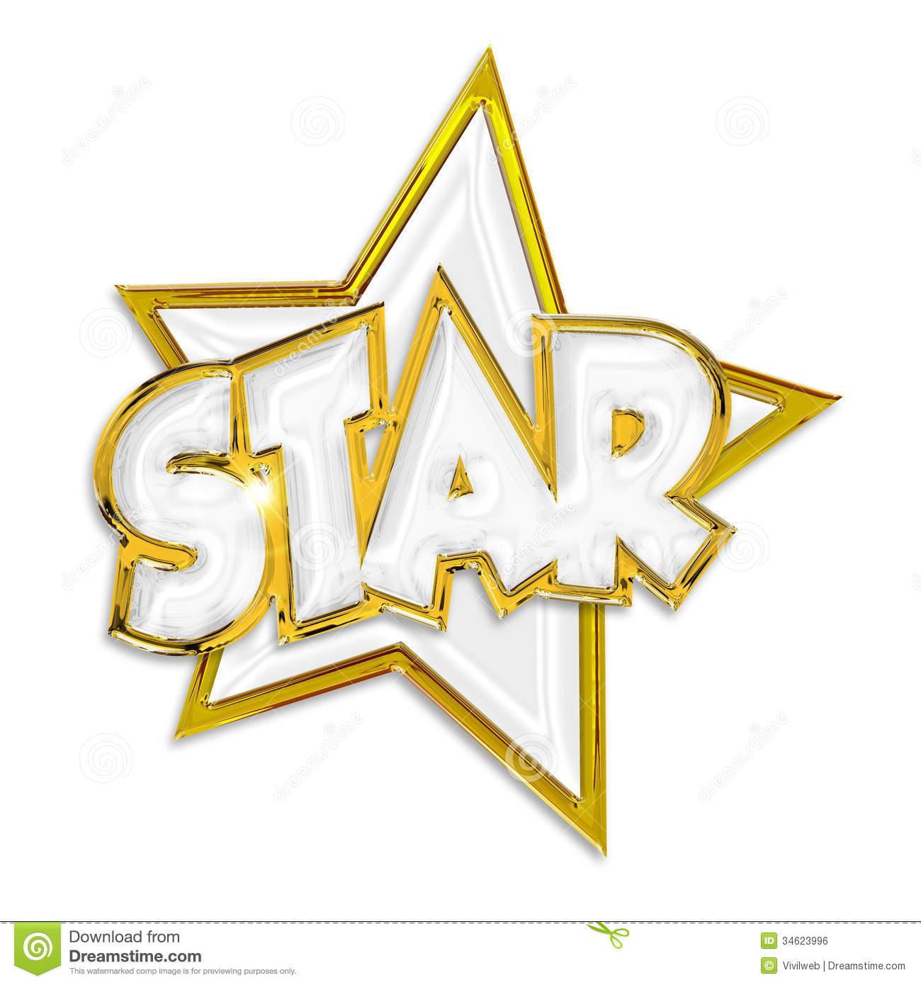 Celebrity clipart word Star Clipart star shining shining